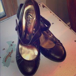 Cute brown Mary Jane heels